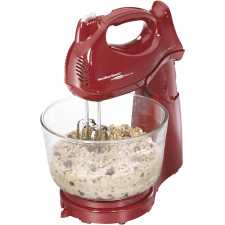 Hamilton Beach 6-Speed Power Deluxe 4 Quart Hand & Stand Mixer, Red | Model# 64699 30 Quart Floor Mixer