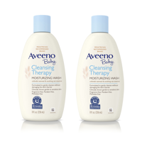 (2 Pack) Aveeno Baby Cleansing Therapy Moisturizing & Soothing Wash, 8 fl. oz