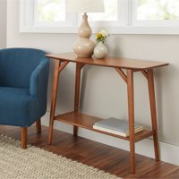 Better Homes & Gardens Reed Mid Century Modern Console Table, Pecan