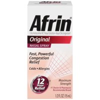 Afrin Original Cold and Allergy Congestion Relief Nasal Spray, 0.5 Fl Oz