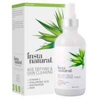 InstaNatural Vitamin C Skin Clearing Toner - Face Toner for Oily Skin, Fine Lines & Wrinkles - With Salicylic Acid, Hyaluronic Acid & Niacinamide - 4 oz