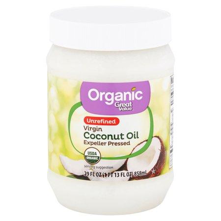 Great Value Organic Unrefined Virgin Coconut Oil, 24 fl