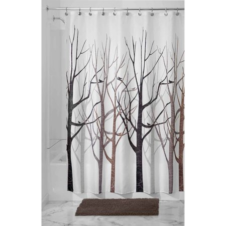 Interdesign Forest Fabric Shower Curtain Standard 72 X 72 Black