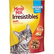Meow Mix Irresistibles Cat Treats - Soft With White Meat Chicken, 12-Ounce Bag