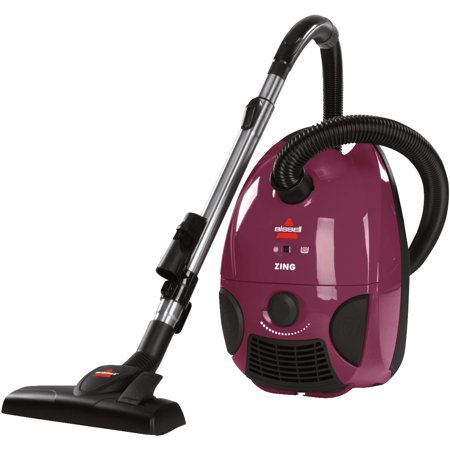 Bissell Zing Bagged Canister Vacuum, Maroon, 4122 -