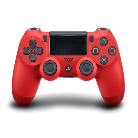 Dual Shock Black Wireless Controller (Sony PlayStation 4 DualShock 4 Controller, Magma Red, 711719504405 )