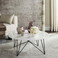 "Safavieh Maris 33.5"" Round Retro Mid Century Coffee Table, Multiple Colors"