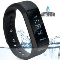 IMAGE Waterproof B luetooth Fitness Tracker Bracelet Smart Wrist Watch Band for iphone Android w/ t ouch screen