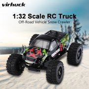 Virhuck 1:32 Scale 2WD Mini RC Truck for Kids, 2.4GHz 4CH Off-road Vehicle Rock Crawler RC Car Racing Car 12MPH Toy Car Gift