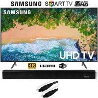 """Samsung UN40NU7100 40"""" (UN40NU7100FXZA) NU7100 TV 2018 Model (2018) with Vivitar 24-Inch Wall Mountable Wireless Bluetooth Soundbar"""