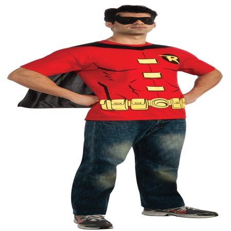Robin T-Shirt Adult Costume Kit - Batman And Robin Couples Halloween Costumes