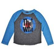 21da60599d1c The Who Baby Toddler Boys Burnout Long Sleeve Raglan Shirt