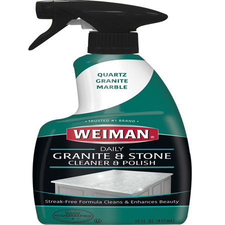Weiman Granite Cleaner & Polish - 16 Ounce - Non Toxic Daily Use Marble Soapstone Quartz Quartzite Slate Limestone Corian Laminate Tile - Granite Sphere