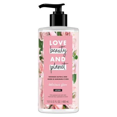 Love Beauty And Planet Murumuru Butter & Rose Body Lotion Delicious Glow 13.5 Fl OZ