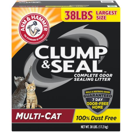 Coat 38 Short - Arm & Hammer Clump & Seal Litter, Multi-Cat 38 lb.