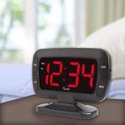 Equity Tilt LED Alarm Clock, Black