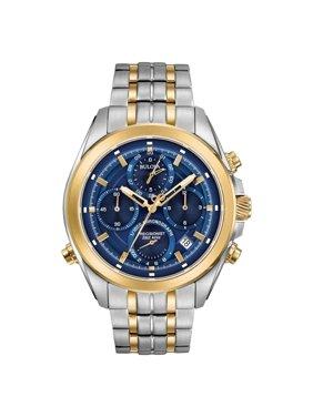 Bulova 98B276 Men's Precisionist Blue Dial Two Tone Steel Chronograph Watch