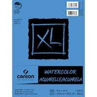 Canson XL Fold Over Watercolor Pad - 9 x 12 inches - 30 sheets