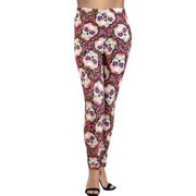 1ab8362f42c55b LAVRA Women's Plus Size Graphic Print Fashion Leggings