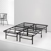 Spa Sensations by Zinus - Steel SmartBase Bed Frame Black, Multiple Sizes