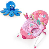 Bright Starts Happy Tweet Bouncer + Octoplush Toy