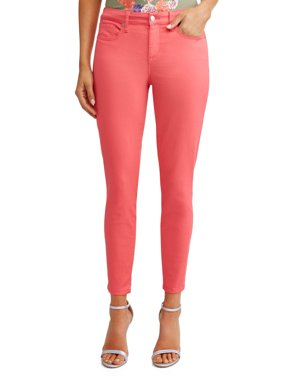 Sofía Skinny Mid Rise Stretch Ankle Twill Jean Women's (Coral)