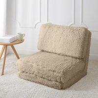 Mainstays Long Hair Faux Fur Flip Chair, Multiple Colors