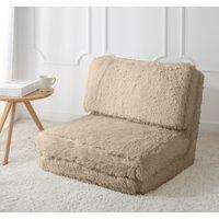 Mainstays Long Hair Faux Fur Flip Chair, Multiple Colors