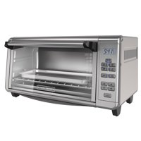 BLACK+DECKER Digital Extra-Wide 8-Slice Convection Countertop Toaster Oven, Stainless Steel, TO3290XG