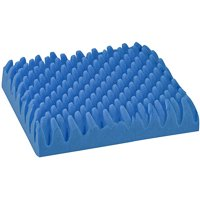 """DMI Wheelchair Cushion for Pressure Ulcer, Egg Crate Foam for Bed Sores, Convoluted Egg Seat Cushion for Sitting, Wheelchair and Recliner Chair Pads, Blue, 16"""" x 18"""" x 4"""""""