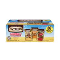 Snyder's of Hanover Pretzel Lovers Variety Pack, Three Flavors, Single-Serve 36 Ct