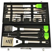 20-Piece Stainless-Steel BBQ Tool Kit, Strong, Sturdy, Heavy Duty Grilling Tool Kit in Portable Aluminium Carrying Case, Dishwasher Safe