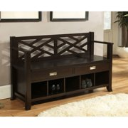 Simpli Home Sea Mills Entryway Storage Bench With Drawers Cubbies