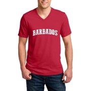Barbados Barbados Men V-Neck Shirts Ringspun