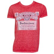 6e8042dc6cb7b Men s Budweiser Vintage Label Red T-Shirt