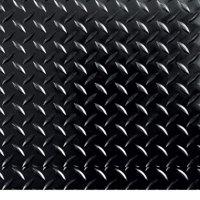 """G-Floor 95 Mil RaceDay Diamond Tread Peel and Stick Tile 12"""" x 12"""" Midnight Black, 20-Pack"""