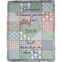 """Personalized Grandma's Touch 46"""" x 60"""" Throw, Green"""