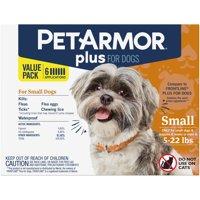 PetArmor Plus Flea & Tick Prevention for Small Dogs (4-22 lbs)