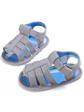 Sawpy Walker Shoes Anti-Slip Soft Sole Sandals New Style Summer Kids Boys And Girls Canvas Walker Shoes Baby Fashion Non-slip Shoes