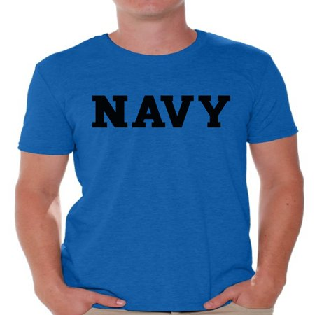 Awkward Styles Navy Shirt for Men Military Gifts for Him Navy T Shirt Navy Training Tshirt for Men Workout Clothes Military