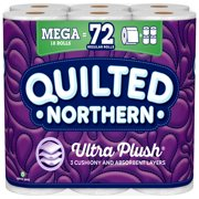 Quilted Northern Ultra Plush, 18 Mega Rolls, Toilet Paper
