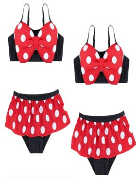 Cute Bowknot Baby Girl Kids Bathing Suit Swimwear Bikini Set Tankini Swimsuit Costume