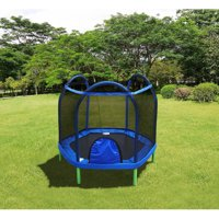 Bounce Pro 7-Foot My First Trampoline (Ages 3-10) Basic for Kids, Blue