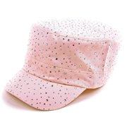 5e998e350f7897 POP Fashionwear Glitter Rhinestones Trim Fashion Cadet Hats Pink