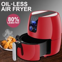 Zeny Deep Air Fryer Electronic 3.7Qt Touch Screen Temperature Control Home Kitchen