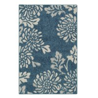 Better Homes & Gardens Blue Floral Mums Accent Rugs and Runner