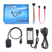 """AGPtek NEW USB 2.0 to 2.5"""" 3.5"""" IDE SATA HDD Hard Drive Converter Adapter Cable + AC Power Adapter"""