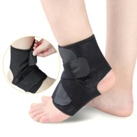 One Size Open-Heel Compression Ankle Support Sleeve Ankle Protective Brace Wrap