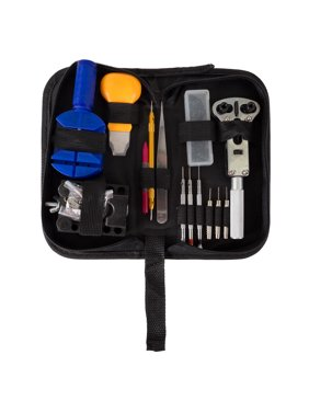 Stalwart 144 Piece Watch Repair Kit- Tool Set for Repairing Watches Including Opener, Watch Holder, Link Remover