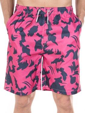LELINTA Mens Swim Trunks Board Shorts Bathing Suits Elastic Waist Drawstring
